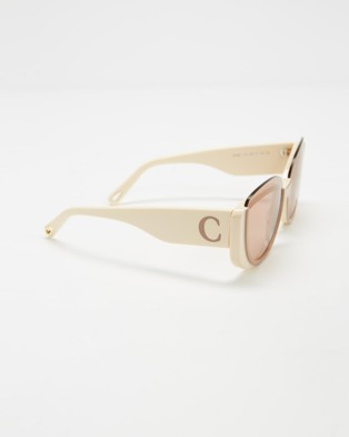Chlo?? CE754S - Sunglasses (Nude & Ivory)