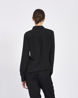GINIA RTW Silk Poppy Shirt - Tops (Black)
