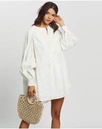 AERE - Pleat Front Smock Dress