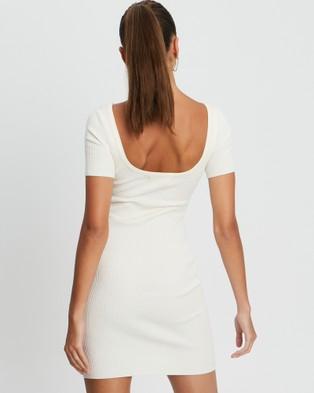 BWLDR Carina Knit Dress - Bodycon Dresses (White)