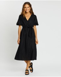 AERE - Linen Wrap Dress