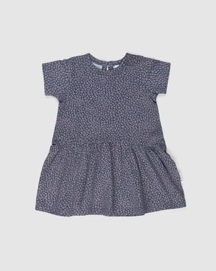 Huxbaby - Ditsy Animal Drop Waist Dress   Babies Kids - Printed Dresses (Dark Blue) Ditsy Animal Drop Waist Dress - Babies-Kids