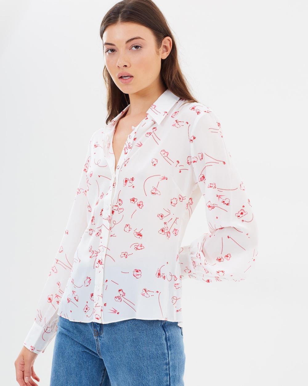 Rockins Bell Sleeve Shirt Tops Popcorn Ivory Bell Sleeve Shirt