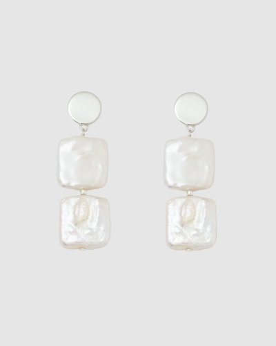 Ava Double Pearl Earrings