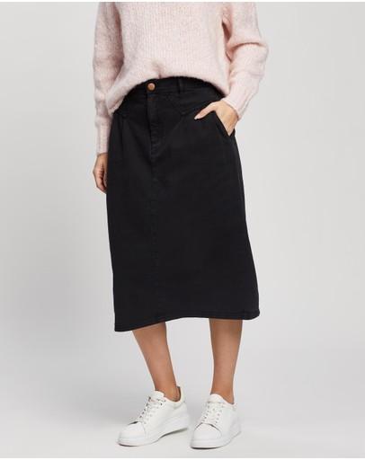 Ceres Life 90s Midi Skirt Black