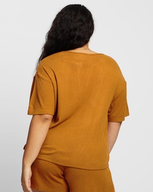 Atmos&Here Curvy Willow Relaxed Tee - T-Shirts & Singlets (Mocha)