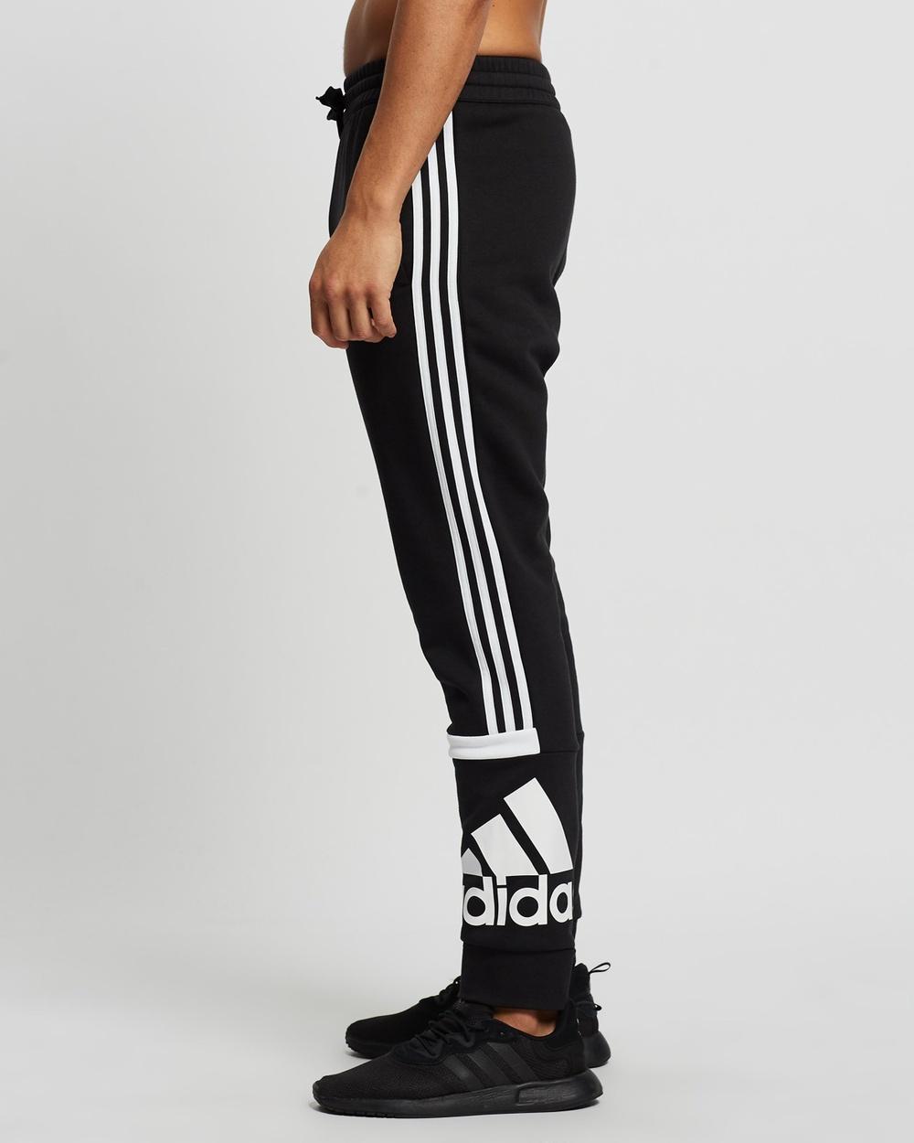 adidas Performance Essentials Logo Colourblock Cuff Pants Sweatpants Black