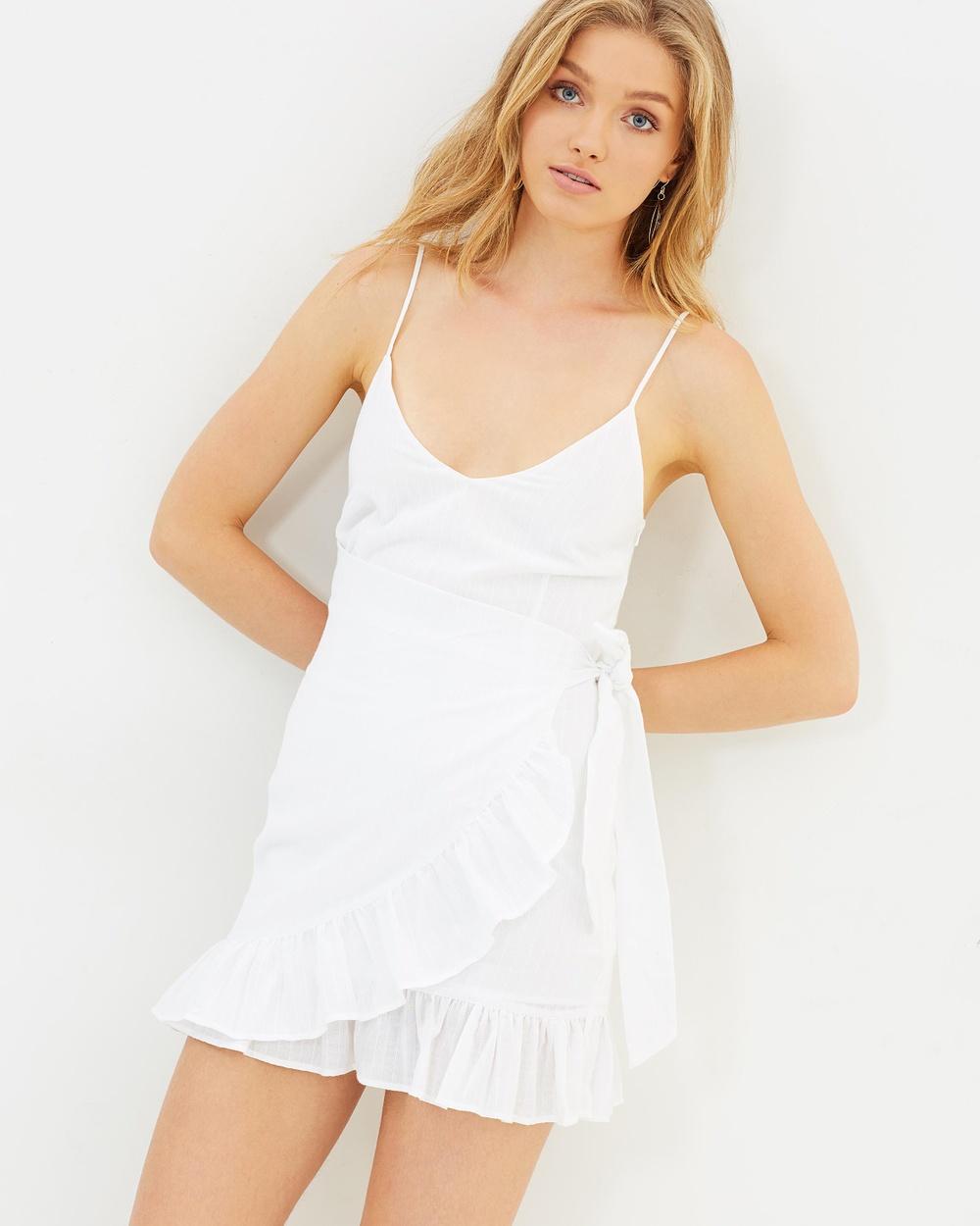 Lulu & Rose Blanca Sheer Stripe Dress Dresses White Blanca Sheer Stripe Dress
