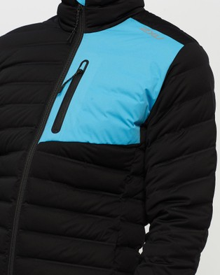 2XU PURSUIT Insulation Jacket - Coats & Jackets (Black/Ultra Aqua)