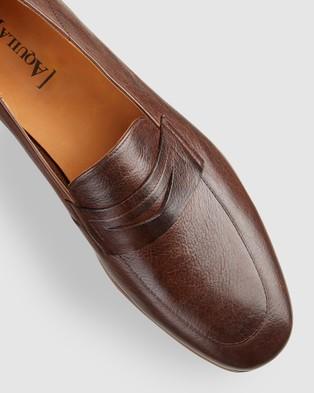 Aquila Fernando Penny Loafers - Dress Shoes (Brown)