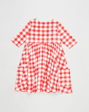 Rock Your Kid Gingham Faye Dress   Kids - Dresses (Red & Cream)