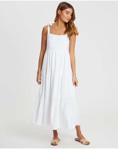 The Fated - Kicker Panelled Midi Dress