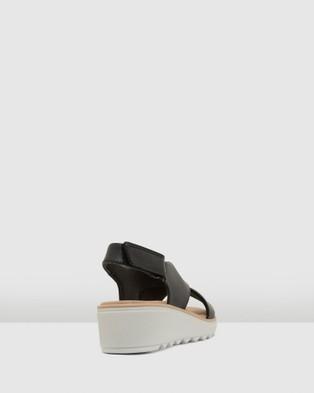 Clarks Jillian Jewel - Sandals (Black Leather/Textile Combo)