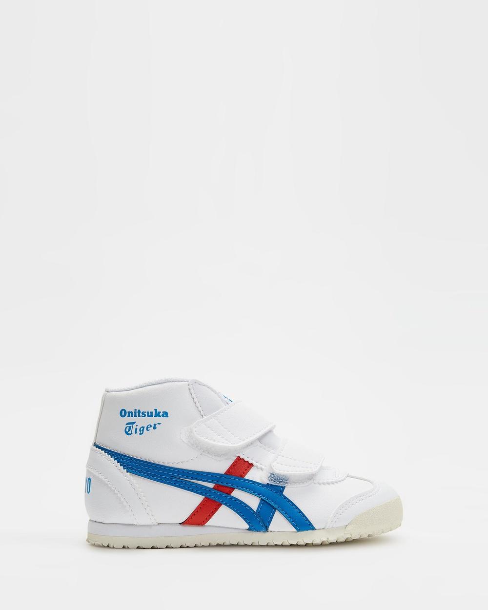 Onitsuka Tiger Mexico Mid Runner PS Kid's Sneakers White / Directoire Blue Mid-Runner Australia