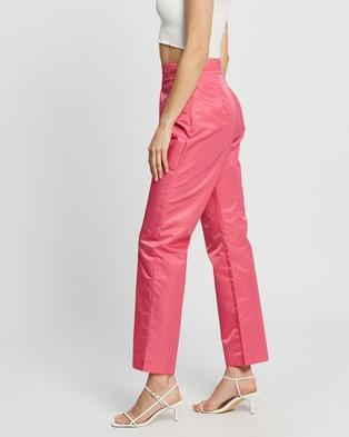 Dazie New York Nylon Cigarette Pants - Pants (Hot Pink)