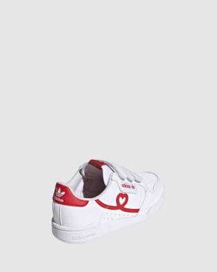 adidas Originals Continental Heart Strap Pre School - Sneakers (White/Red)
