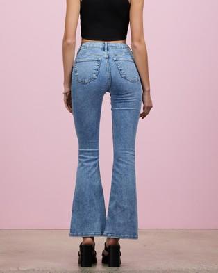 TOPSHOP Jamie Flare Jeans - High-Waisted (Mid Denim)