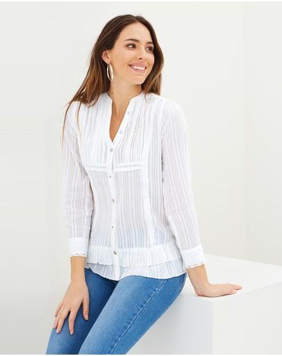 Kaja Clothing Agneta Top White