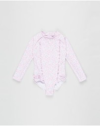 Bebe by Minihaha - Sienna Sequin LS Swimsuit - Kids