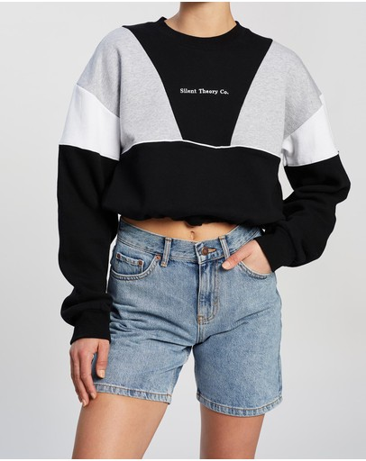 Silent Theory - Ransom Panelled Crew Sweater
