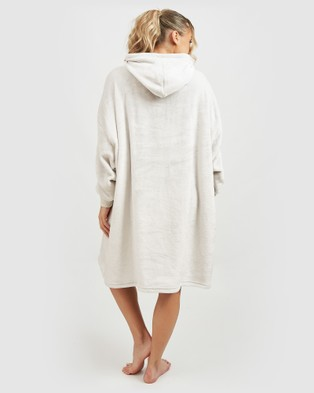 Miz Casa and Co Summer Edition Luxury Hooded Blanket - Hoodies (Silver)