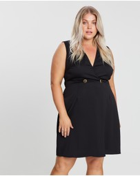 Atmos&Here Curvy - Kristin Wrap Front Button Dress