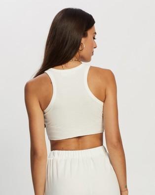 REVERSE Crop Set - Sweatpants (White)