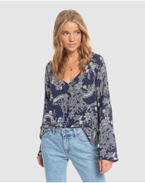 Roxy - Womens Stellar Rock Printed Long Sleeve Top