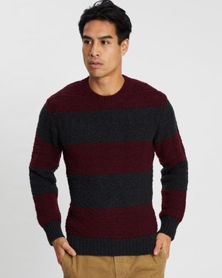 Kent and Curwen - Stripes Knit Jumper - Jumpers & Cardigans (Red) Stripes Knit Jumper