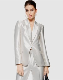 TOPSHOP - Satin Suit Jacket