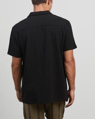 Stussy Grid Seersucker SS Shirt - Casual shirts (Black)