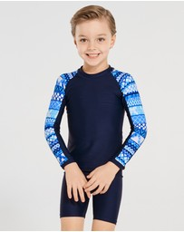 Aqua Blu Kids - Riviera Long Sleeve Rash Vest - Kids