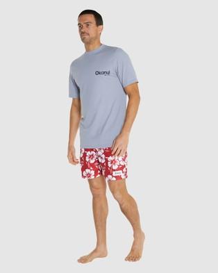 Okanui Logo Short Sleeve Rash Shirt - Swimwear (Grey)