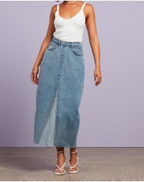 Dazie - Visionary Denim Midi Skirt