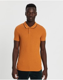 Topman - Ribbed Short Sleeve Polo