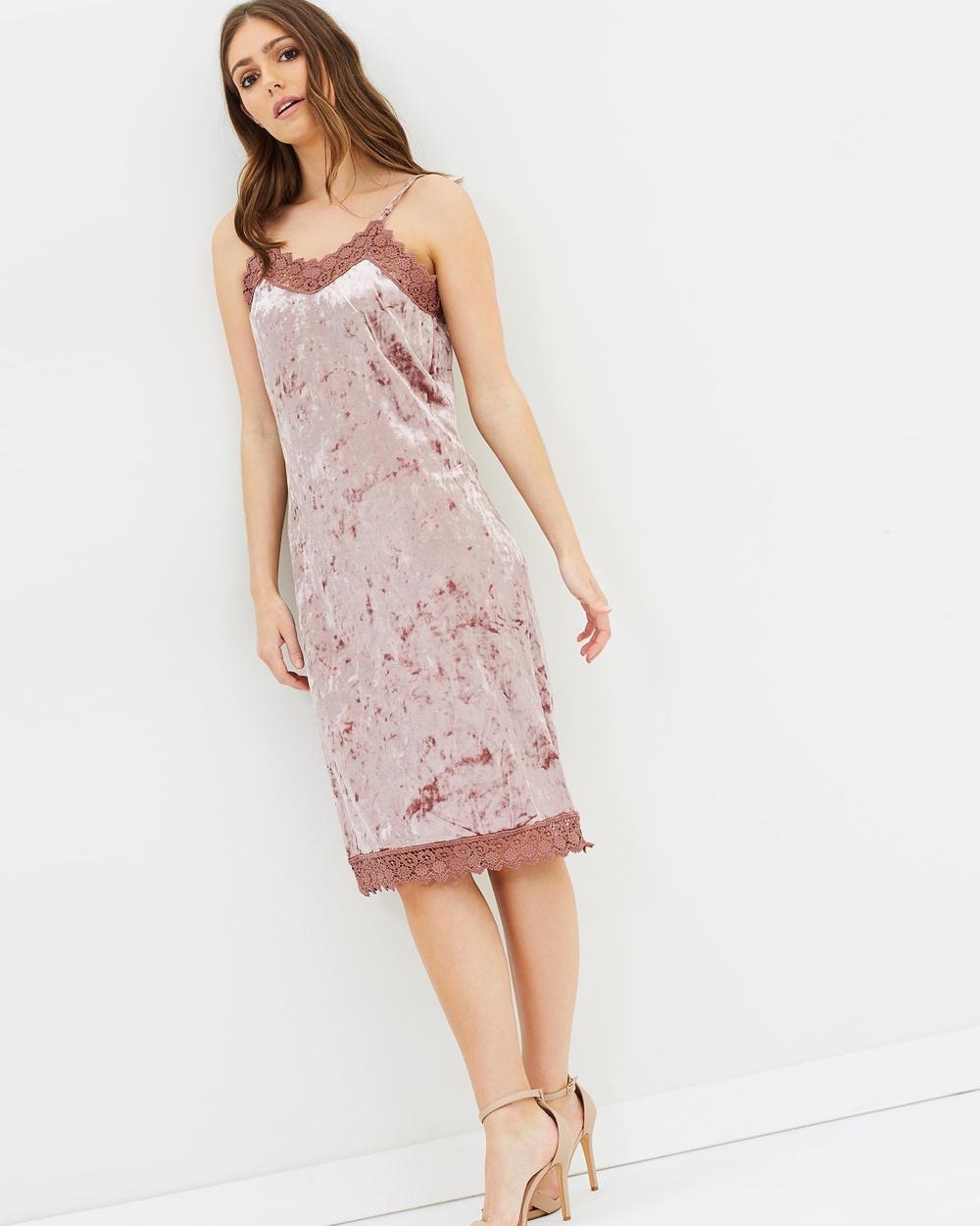 ONLY Velvet Dress Dresses Burlwood Velvet Dress