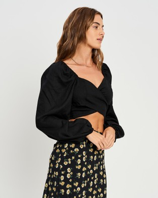 Savel Tammie Blouse Cropped tops (Black)