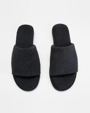 Staple Superior Ibiza Terry Towelling Slides - Sandals (Black)