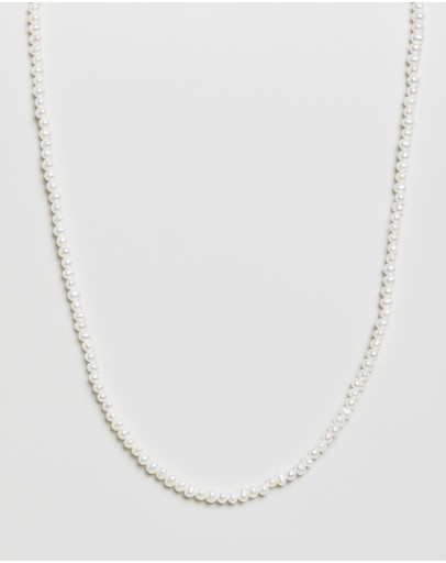 Meadowlark Micro Pearl Necklace Sterling Silver