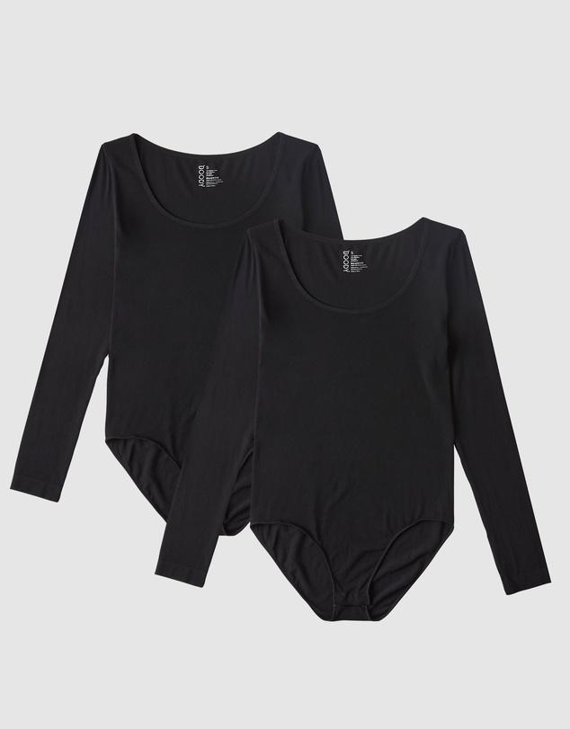 Women 2 Pack Long Sleeve Bodysuit