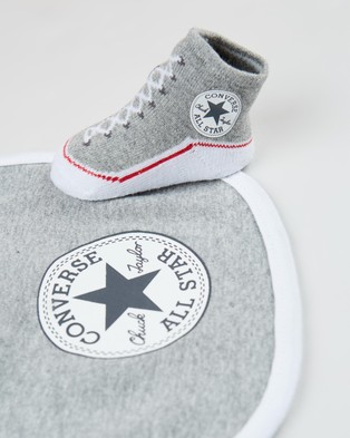 Converse Chuck Bib & Booties Set   Babies - Bibs (Dark Grey Heather)