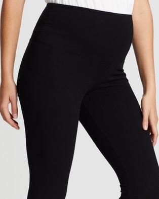 Angel Maternity Postnatal Tummy Tight Control Built In Shaping Leggings - Lingerie (Black)
