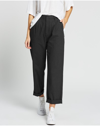 Brixton Victory Trouser Pants Washed Black