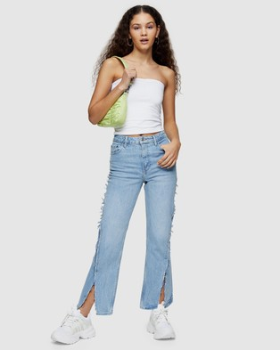 TOPSHOP Exposed Seam Straight Jeans - Jeans (Bleach)