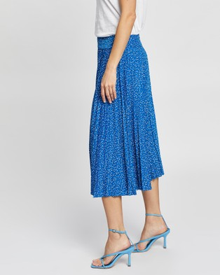 Review Party Pop Skirt - Pleated skirts (Bright Blue Multi)