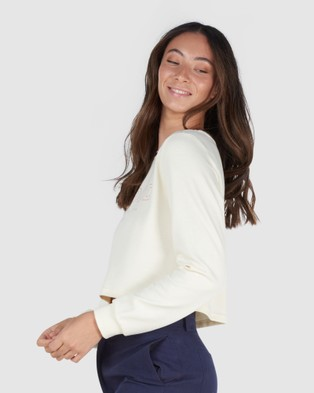 Elwood - Paige Ls Tee Long Sleeve T-Shirts (Chalk)