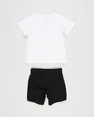 adidas Originals Adicolor Shorts & Tee Set Babies Kids White Black Babies-Kids