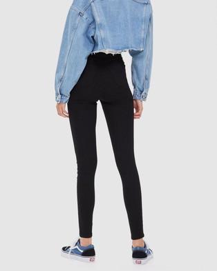 TOPSHOP - Joni Jeans - High-Waisted (Black) Joni Jeans
