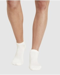 Boody Organic Bamboo Eco Wear - 4 Pack Sports Ankle Sock White