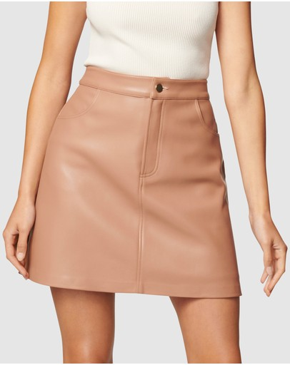 Forever New - Kim Vegan Leather Mini Skirt